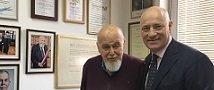 שגריר אוסטריה בישראל מבקר במעבדה של פרופ' יצחק ויץ מבית הספר לביולוגיה מולקולרית של התא וביוטכנולוגיה