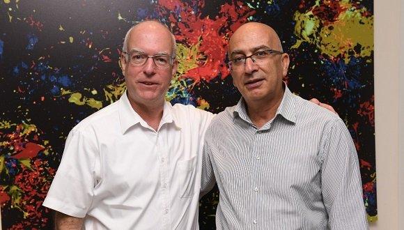 דקאן הפקולטה ונשיא האוניברסיטה (צלם: ישראל הדרי)